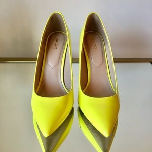 Aldo 'Stessy' Neon Yellow/Green Pumps 7
